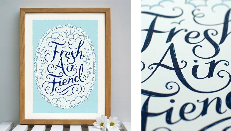 Fresh Air Fiend Print