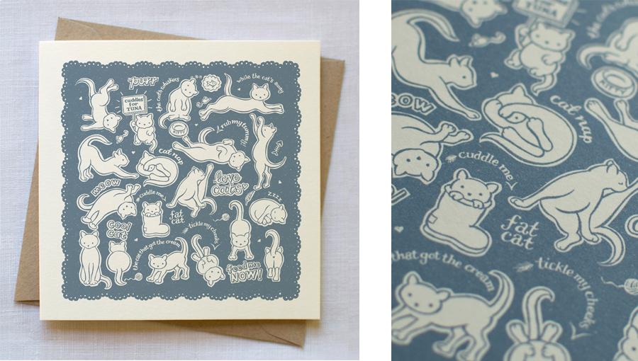 cat pattern card