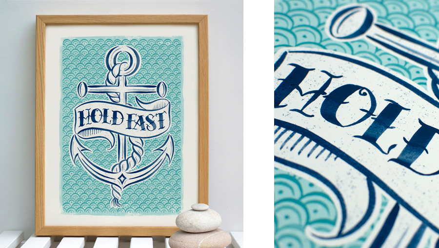 Hold fast anchor print