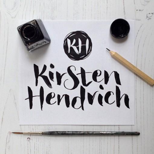 kirsten.hendrich.handlettered.logo.photo