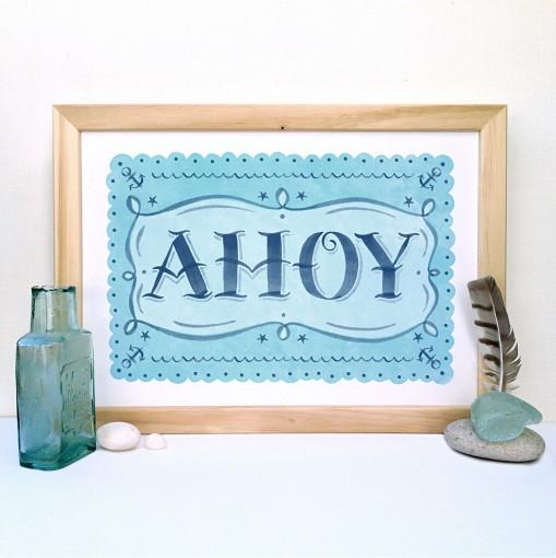 ahoy.print.framed