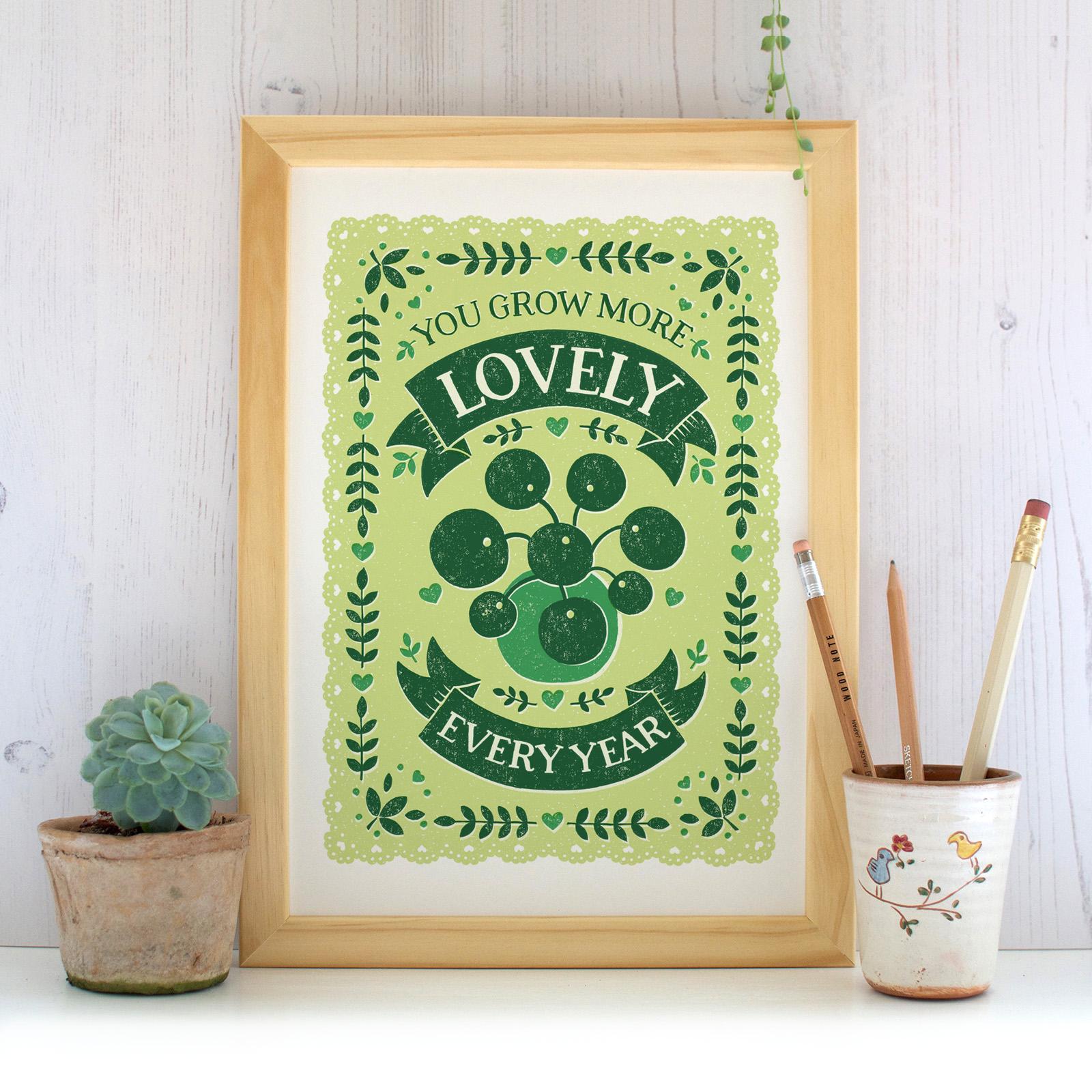 pilea.cactus.frame