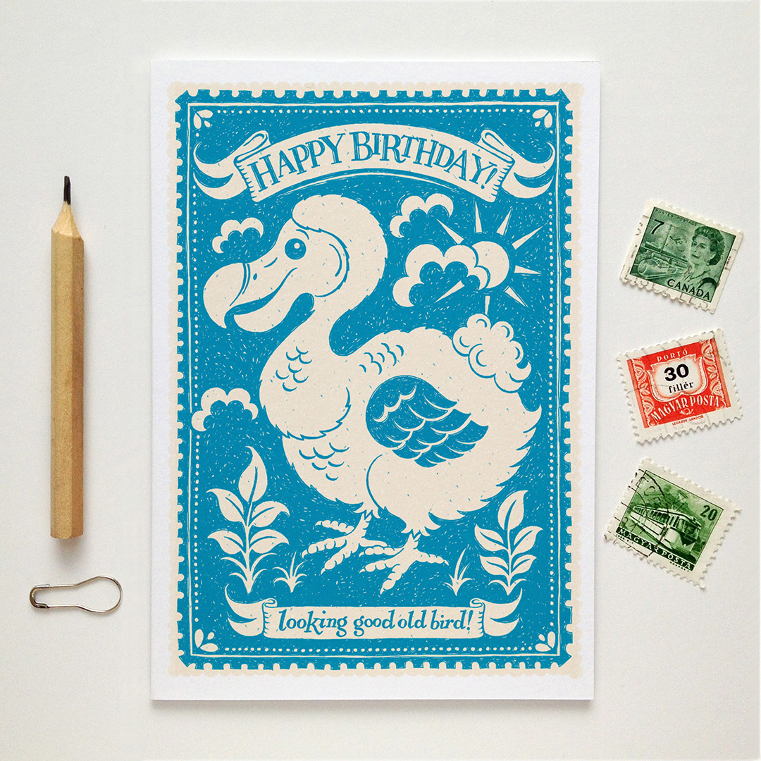 dodo.old.bird.birthday.card