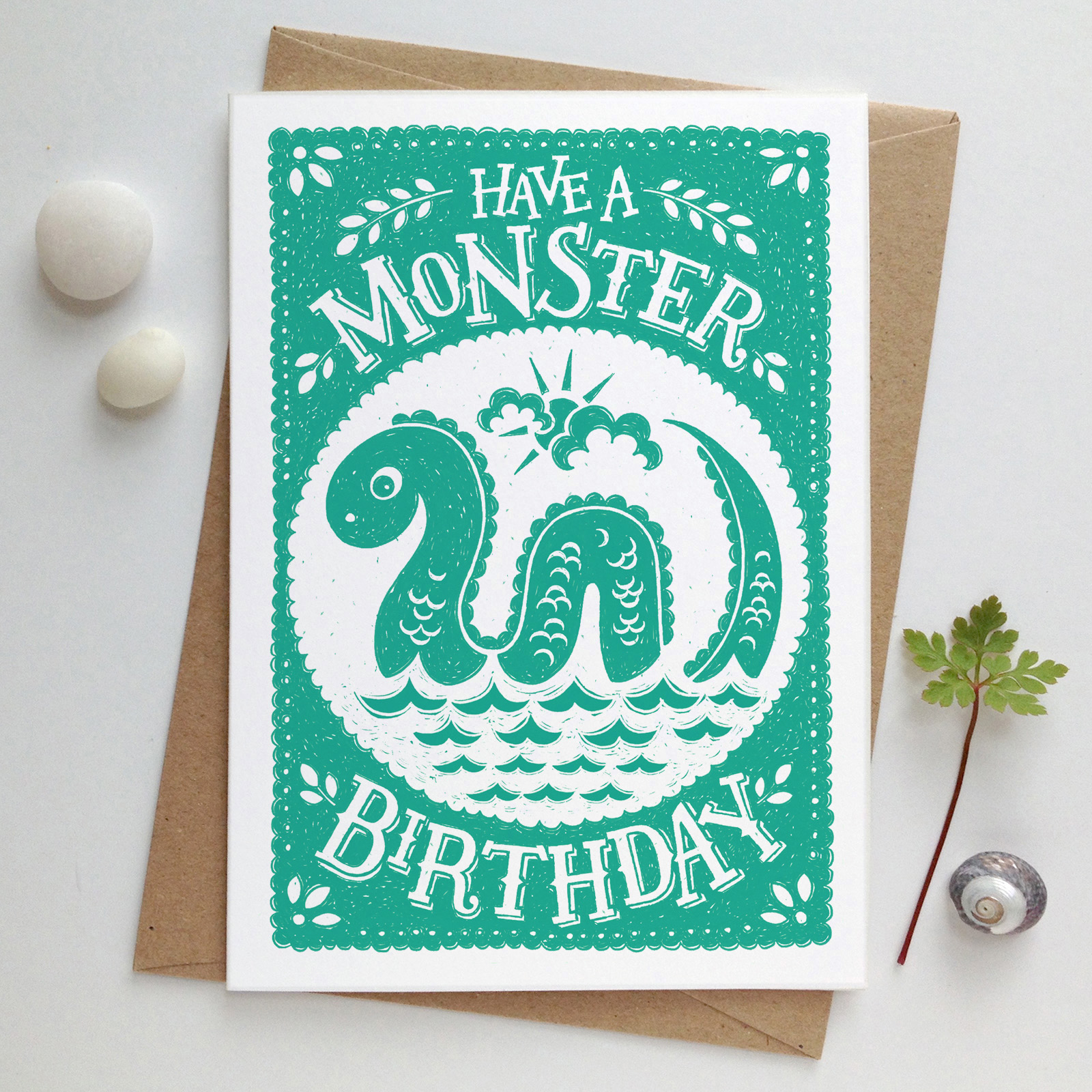 loch.ness.monster.birthday.card.envelope