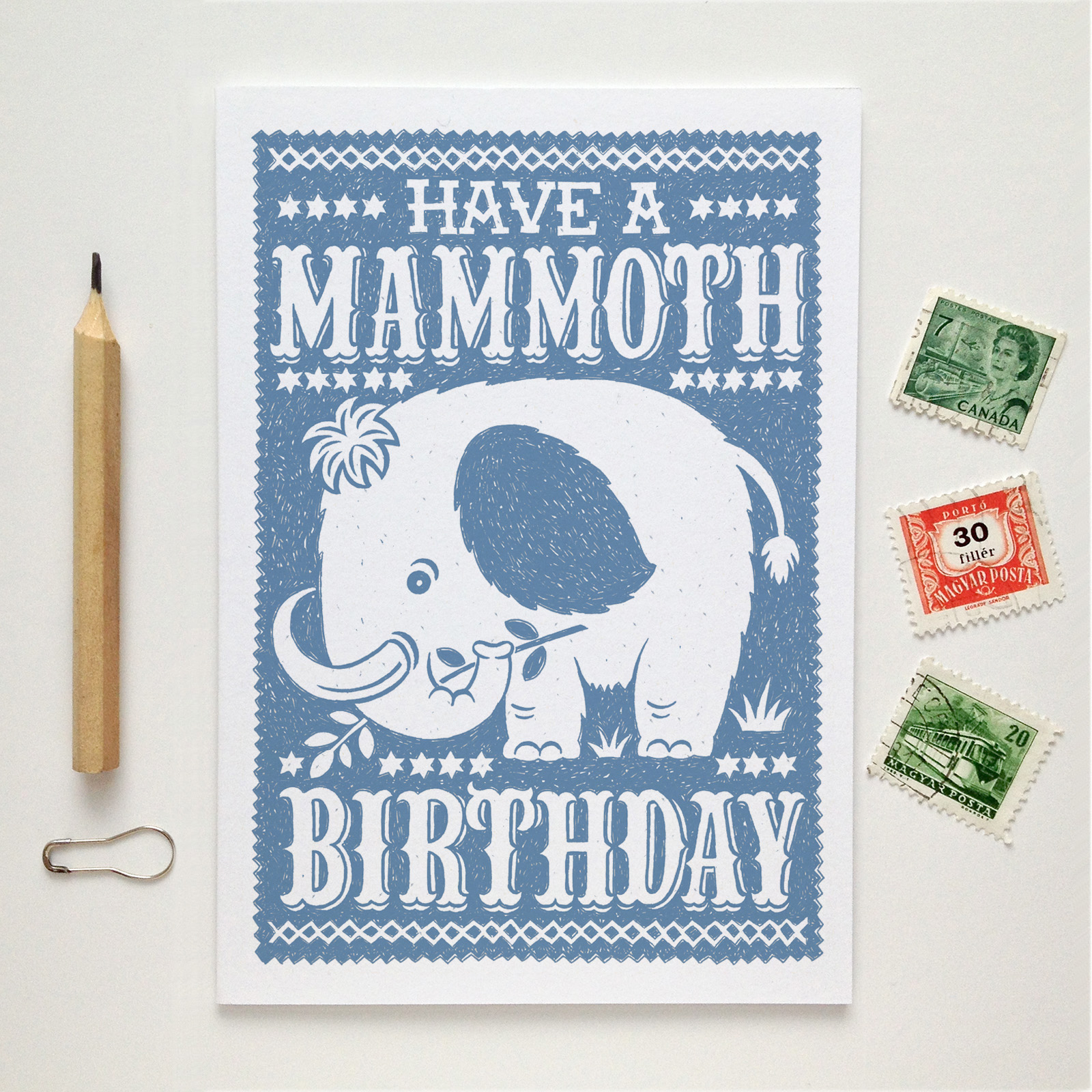mammoth.birthday.card.envelope