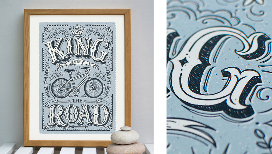 King of the road print