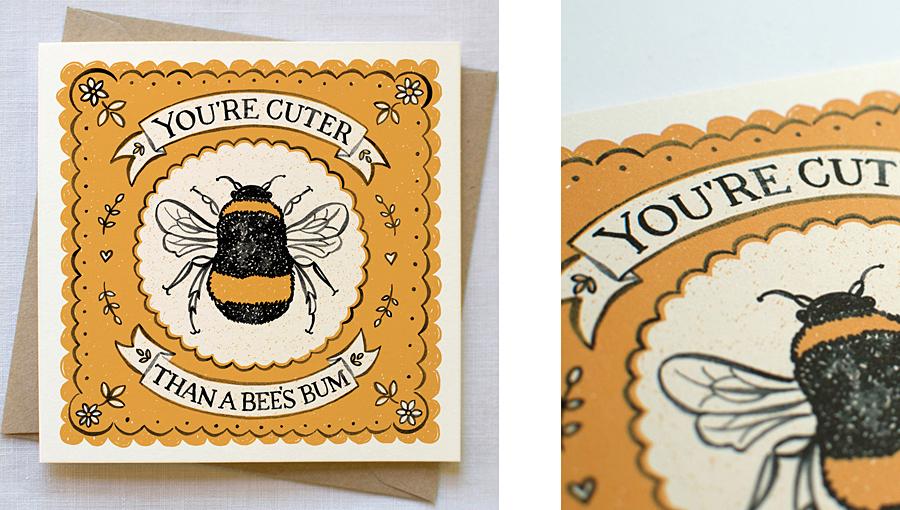 Bees bum card