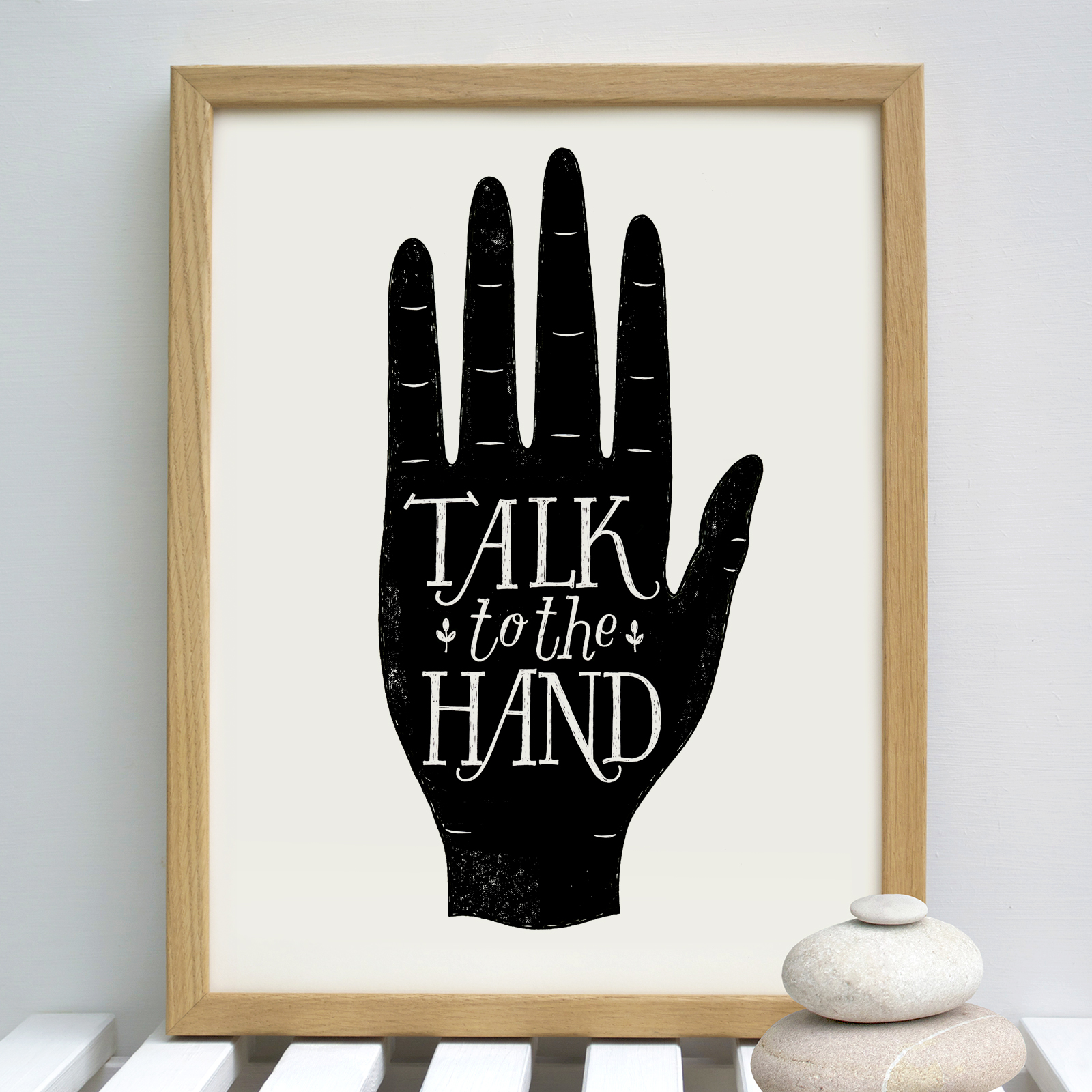 talk.to.the.hand.woodframe