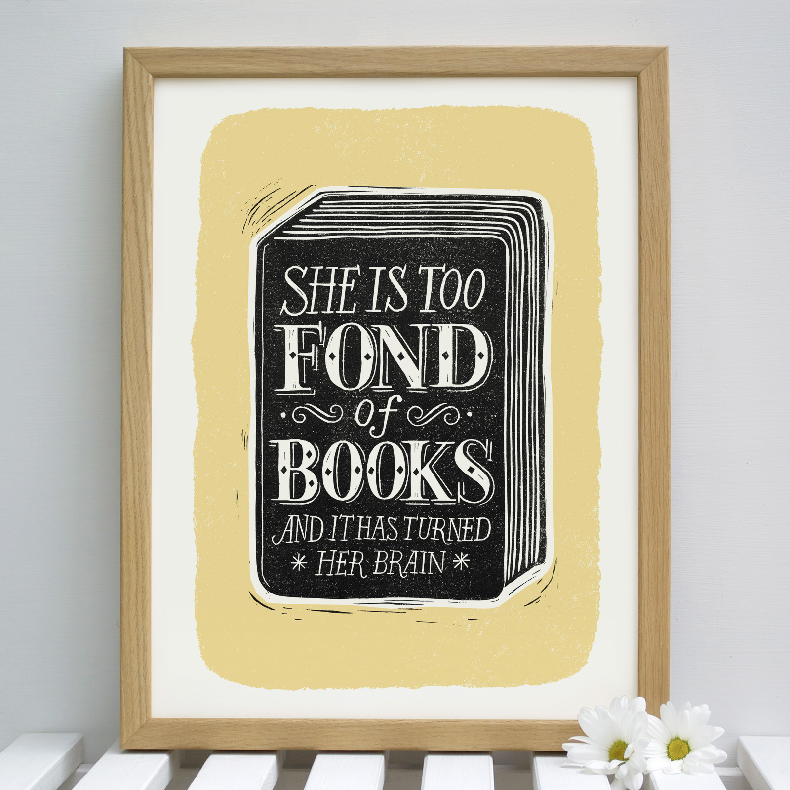 fond.of.books.yellow.framed
