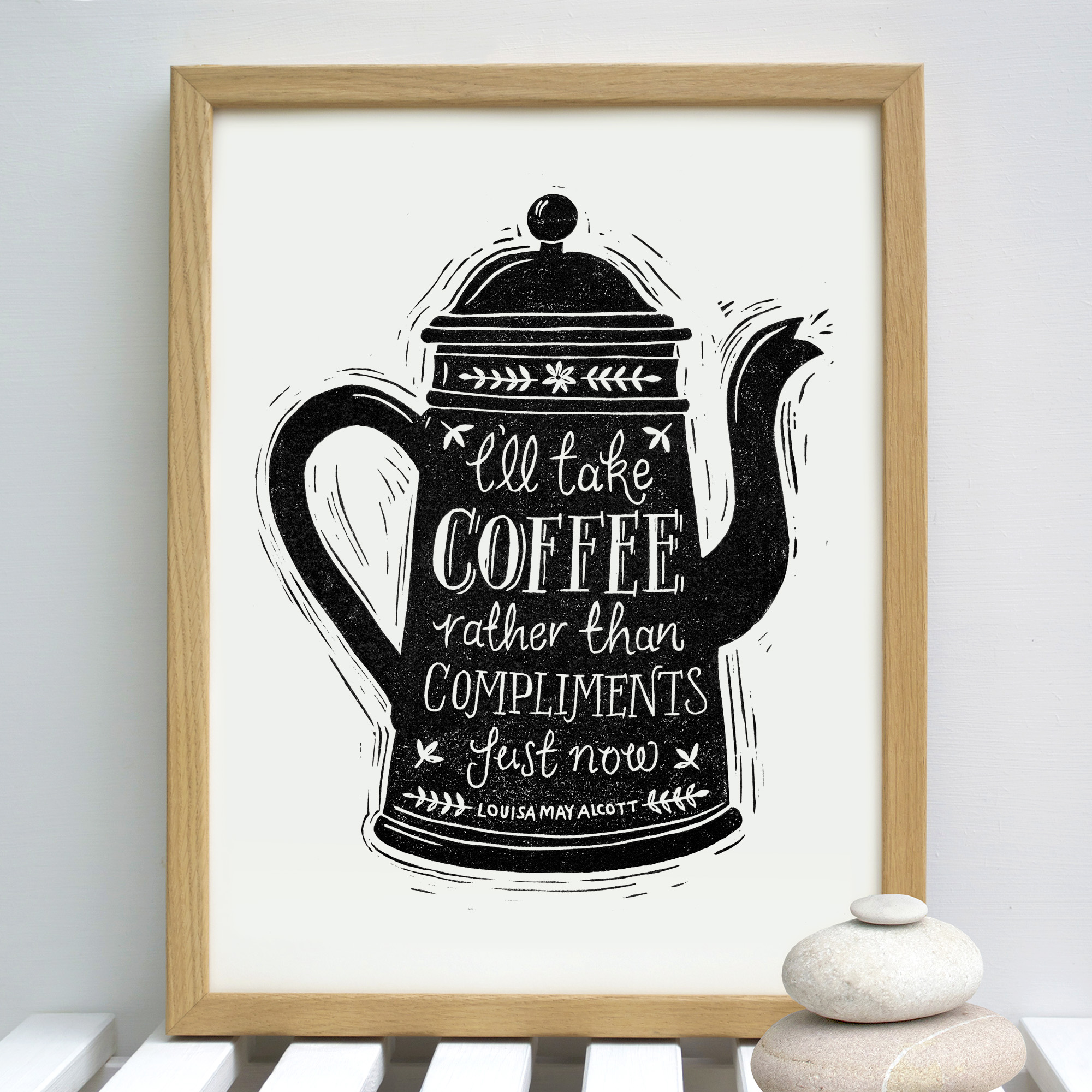 coffee.compliments.bw.framed