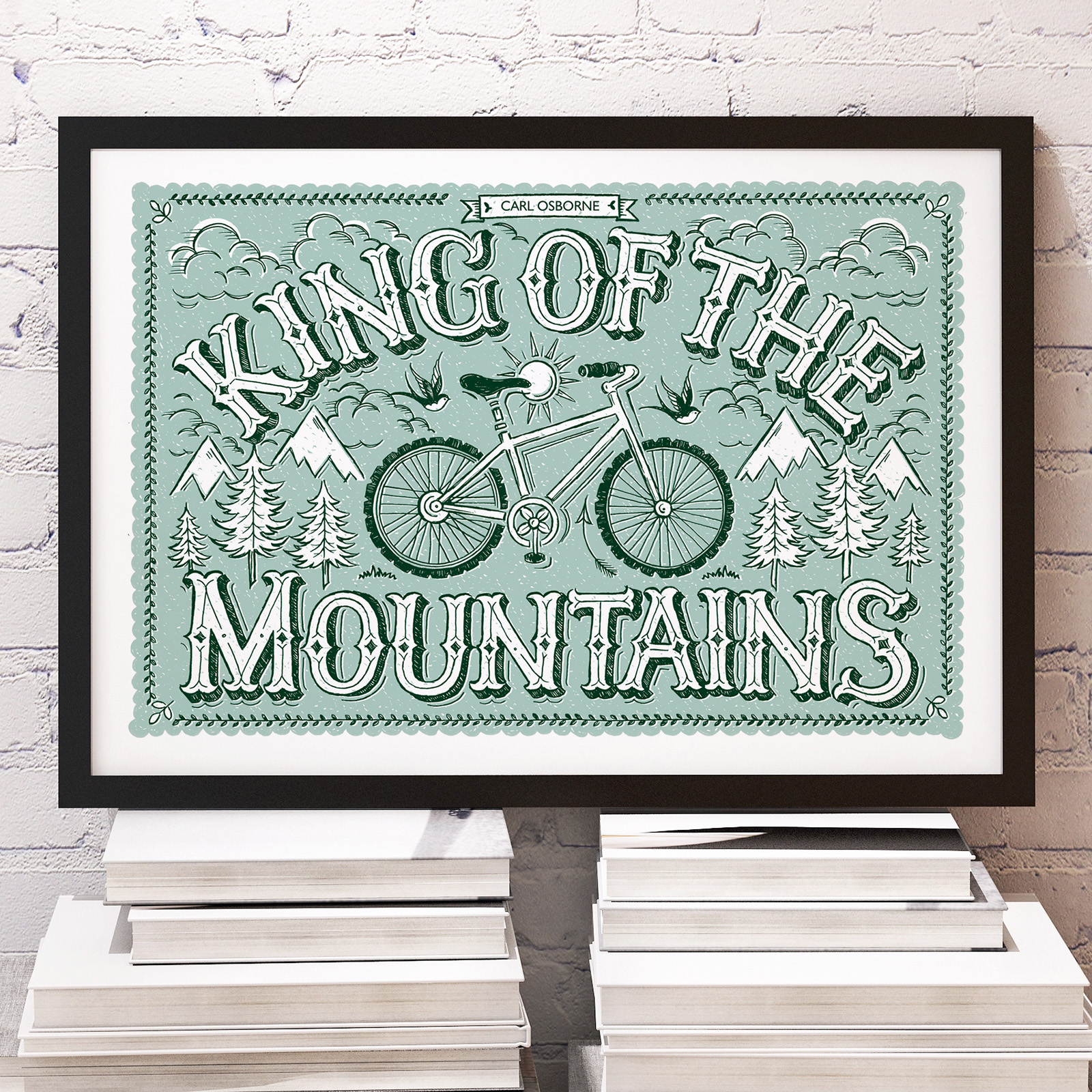 king.of.mountains.framed.personalised