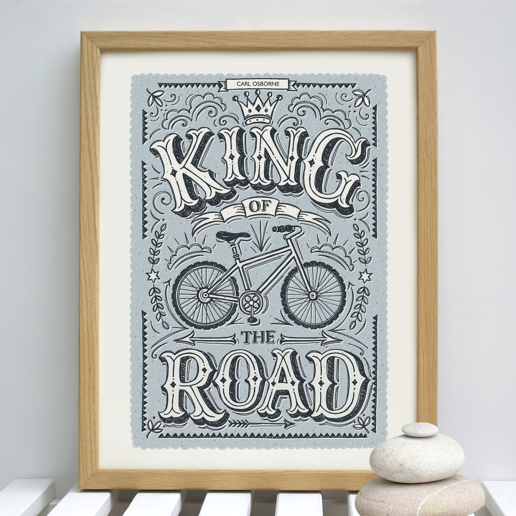 king.of.the.road.personalised.framed