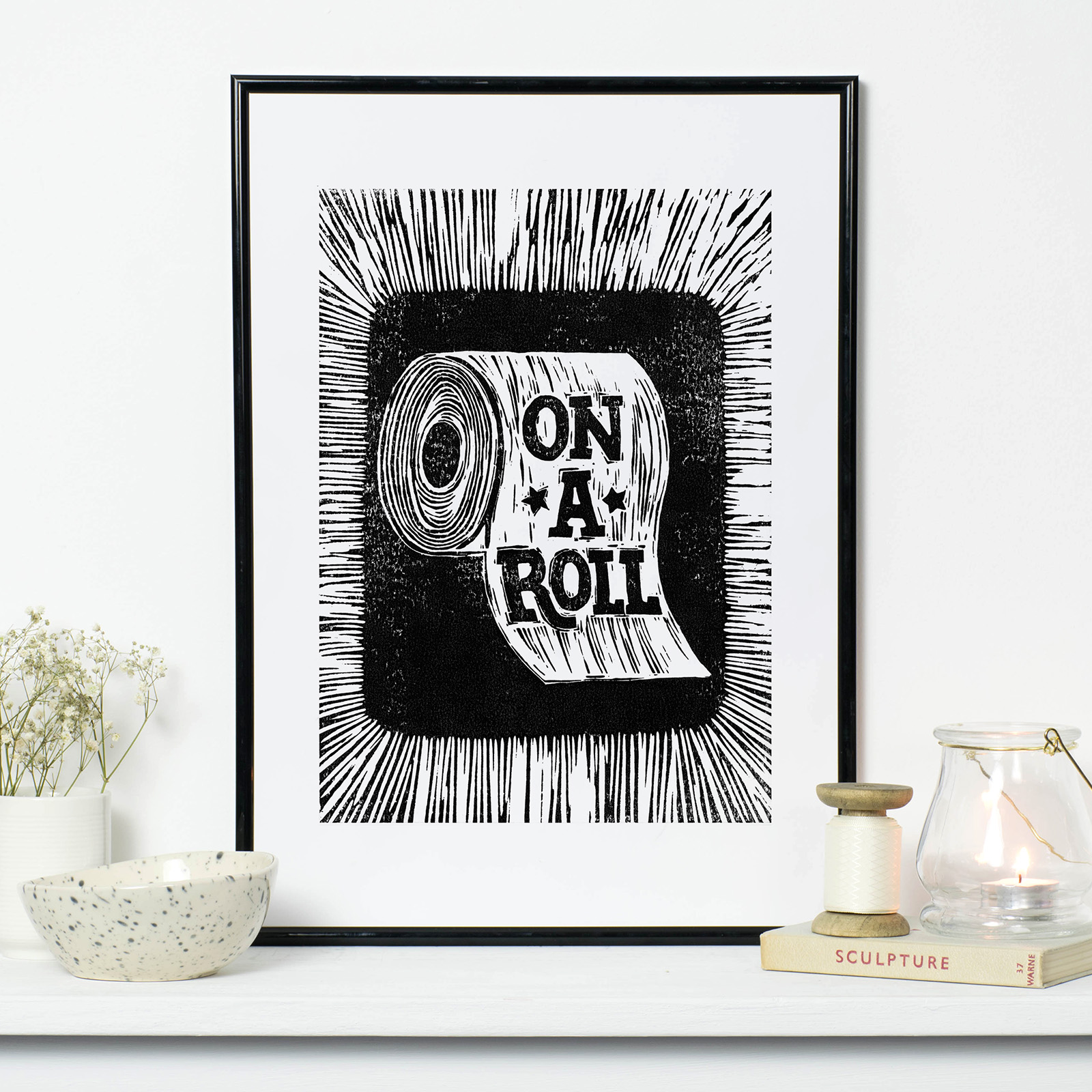 on.a.roll.giclee.black.frame